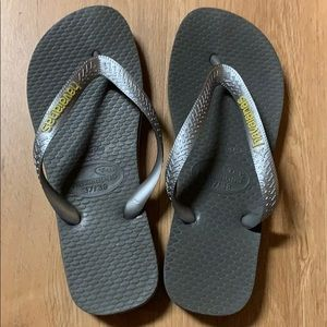 Havaianas Silver Slippers